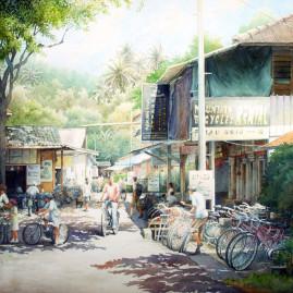 Bicycle Station on Pulau Ubin